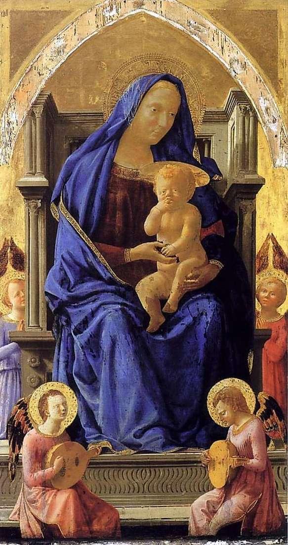 マドンナと子供と天使   Tommaso di Giovanni Masaccio