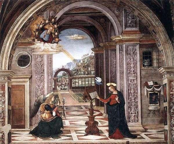 受胎告知 フレスコ画   Bernardino Pinturicchio