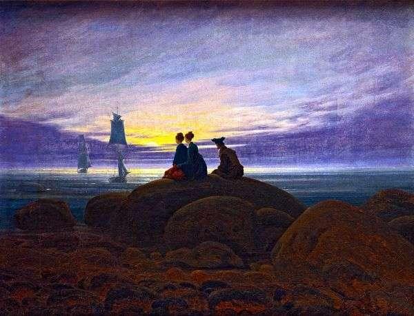 海の上の月の出   Caspar David Friedrich