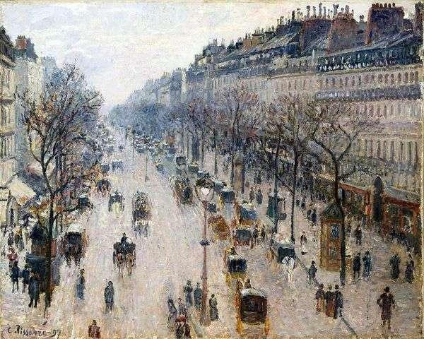 Boulevard Montmartre   カミーユ・ピサロ