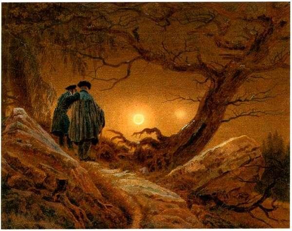 2つ、月を考えて   Caspar David Friedrich