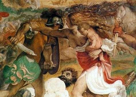 パラッツォマニャーニの壁画   Annibale Carracci