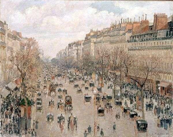 モンマルトル大通り。午後、晴れ   カミーユ・ピサロ