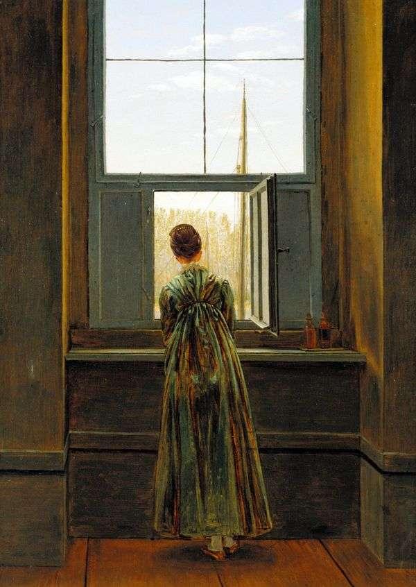 窓際の女性はCaspar David Friedrich