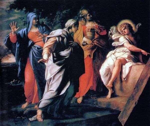 聖墳墓で3つのメアリー   Annibale Carracci