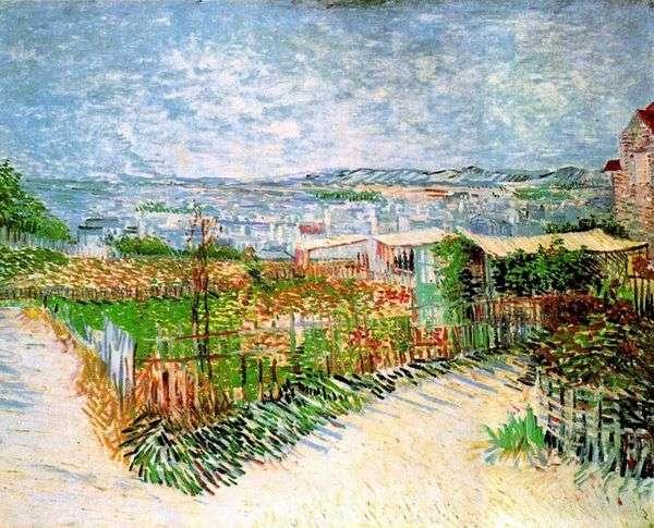 モンマルトルの庭園   Vincent Van Gogh