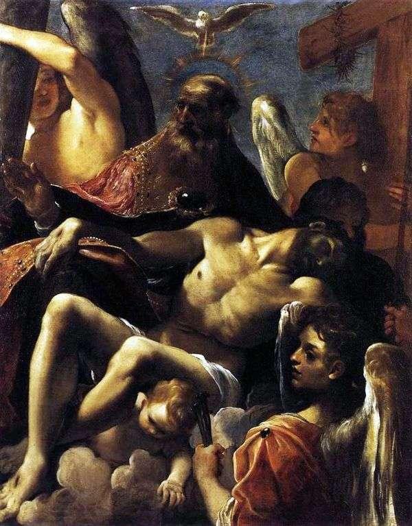 三位一体とキリストの死   Ludovico Carracci