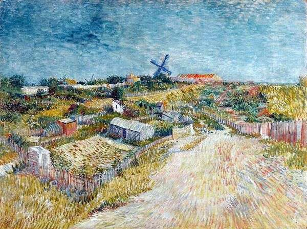 Montmartre Hill   Vincent Van Goghの近くにモンマルトルの庭園