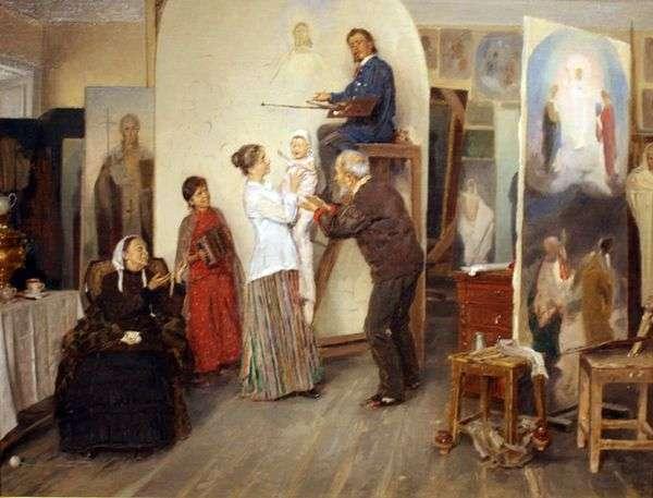 アーティストのスタジオで   ウラジーミル・マコフスキー