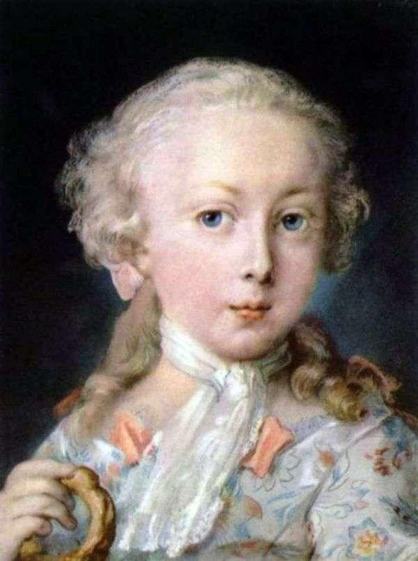 ルブロン家の子供の肖像   Rosalba Carriera
