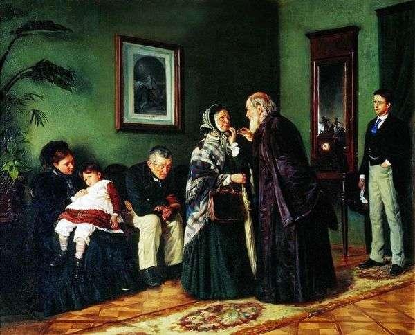 医者のレセプション   ウラジミール・マコフスキー