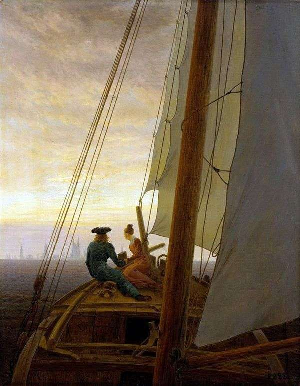 ヨットの上で   Caspar David Friedrich