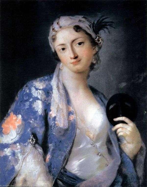 トルコのコスチューム   Rosalba CarrieraでFelicita Sartoriの肖像画