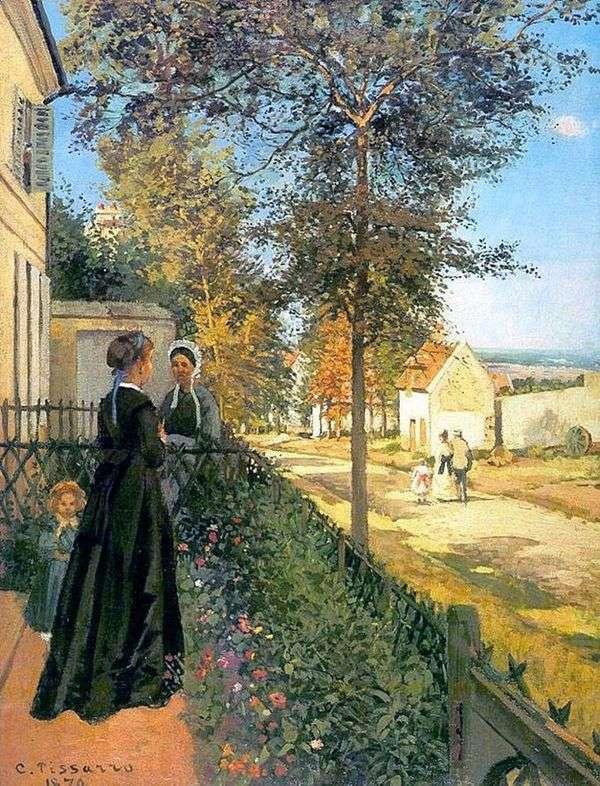 ラブリン。Versaillesへの道(VersaillesからLyuvesienへの道)   カミーユピサロ