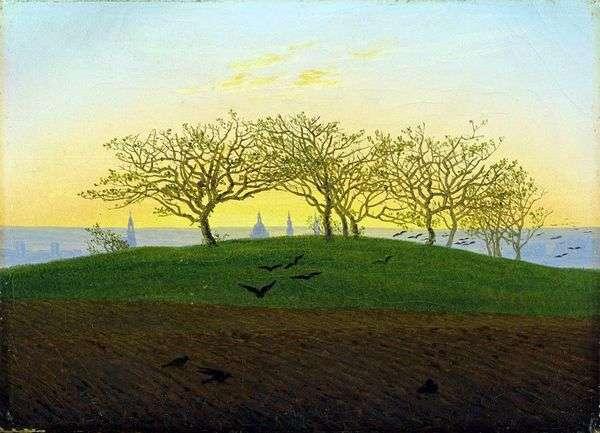 ドレスデンの近くの耕作   Caspar David Friedrich