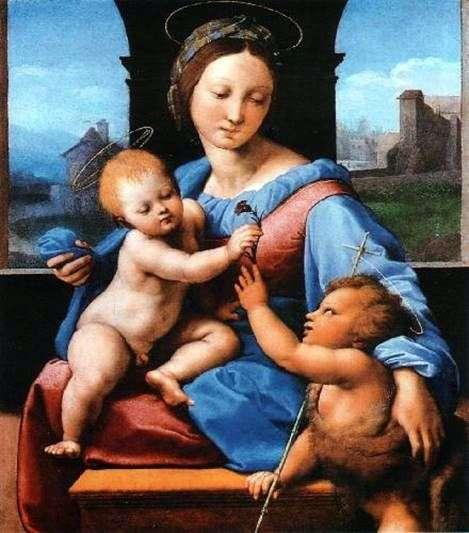 マドンナと子供の洗礼者ヨハネ   ラファエル・サンティ