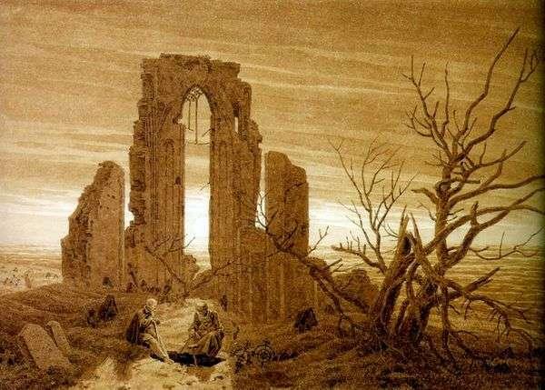 Elden   Caspar David Friedrichの修道院の遺跡