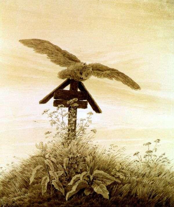 フクロウの墓   Caspar David Friedrich