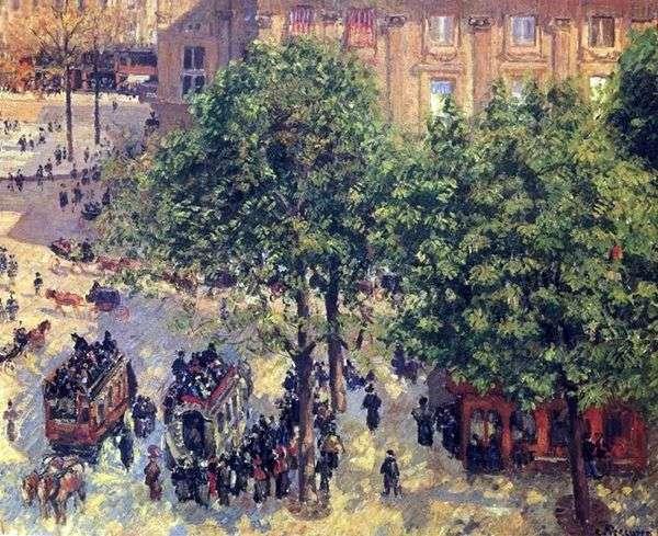 パリのルーロップ広場   Camille Pissarro