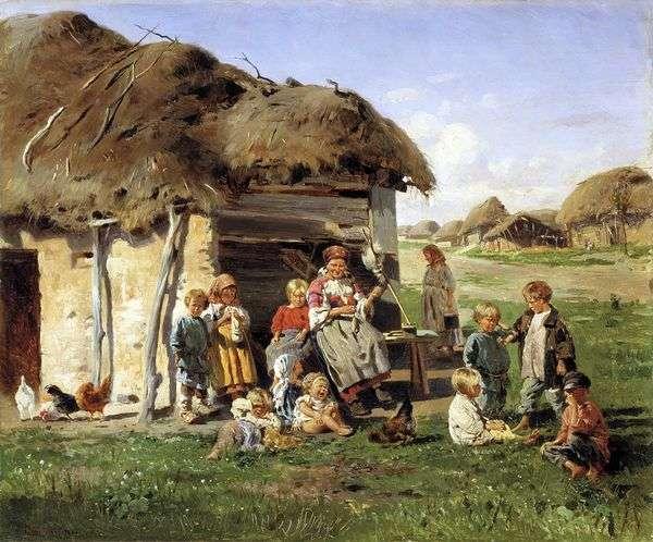 農民の子供たち   ウラジーミル・マコフスキー