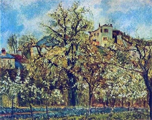 ポントワーズの果樹園。春   カミーユピサロ