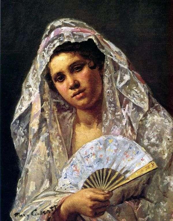 レースマンティル   メアリー・キャサットのスペインのダンサー