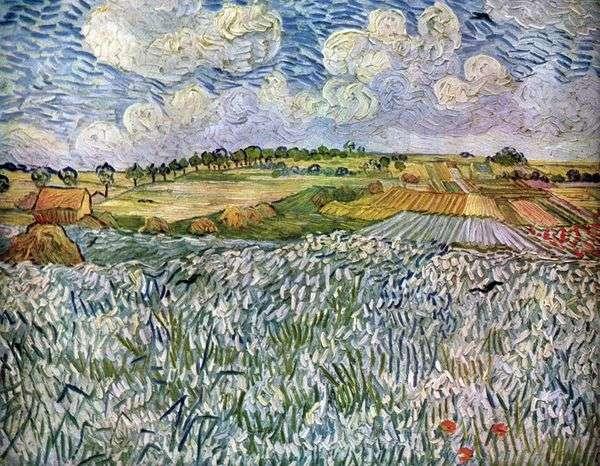 オーヴェル近郊の風景:小麦畑   Vincent Van Gogh