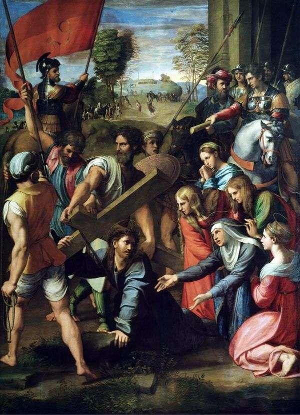カルバリーへ行く途中、キリストの滅亡   ラファエル・サンティ