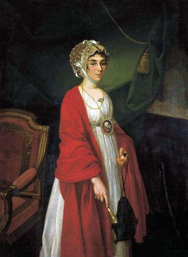 女優P. I. Kovaleva Zhemchugova   Ivan Argunovの肖像