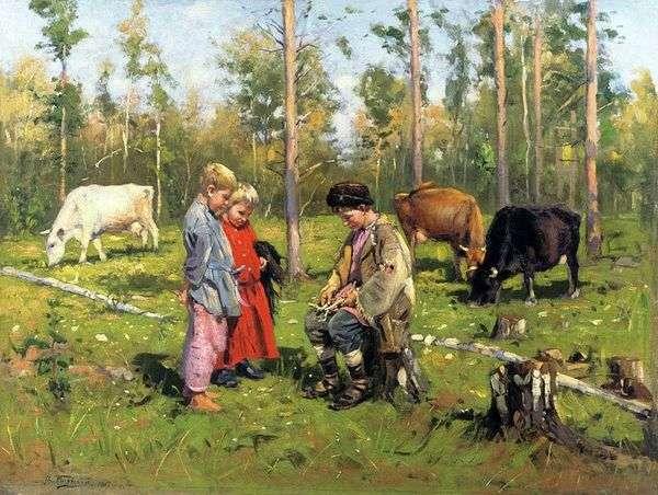 羊飼い   ウラジミール・マコフスキー