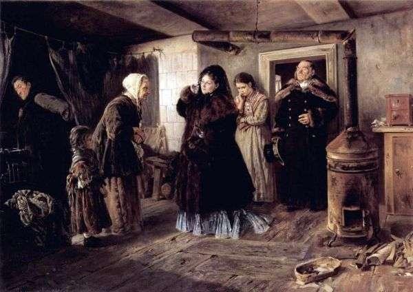 貧しい人々への訪問   ウラジーミル・マコフスキー