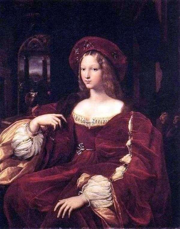 Jeanne de Aragon   ラファエルサンティの肖像