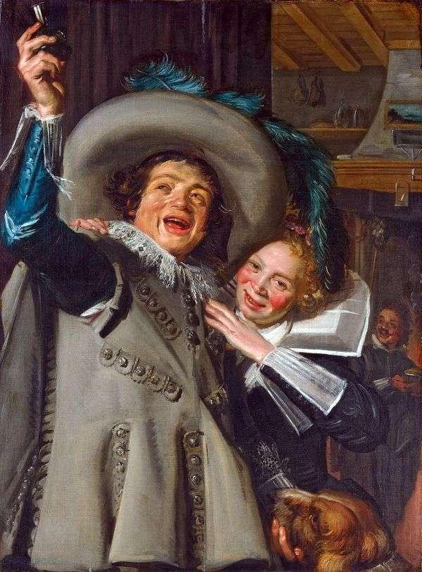 キャバリアランプと彼の恋人   フランスハルス
