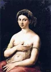 若い女性やフォルナリンの肖像   ラファエル・サンティ
