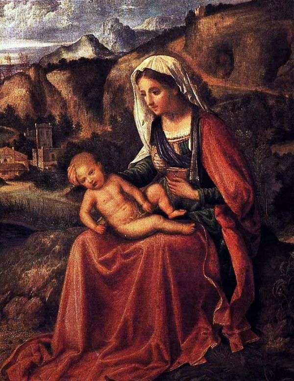 マドンナと風景の中の子供   Giorgione Barbarelli da Castelfranco
