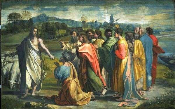 キリストによる使徒ペテロの召し   ラファエル・サンティ