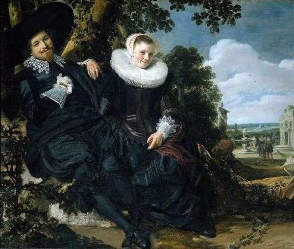 アイザックマッサと彼の妻   フランスハルスの家族の肖像画