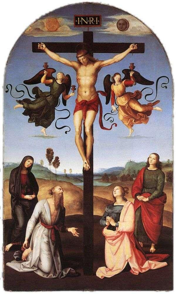 聖母マリア、聖人と天使とのはりつけ   ラファエルサンティ