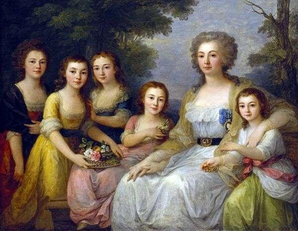 姪とアンナ・プロタソワ伯爵夫人   アンジェリカ・カウフマン