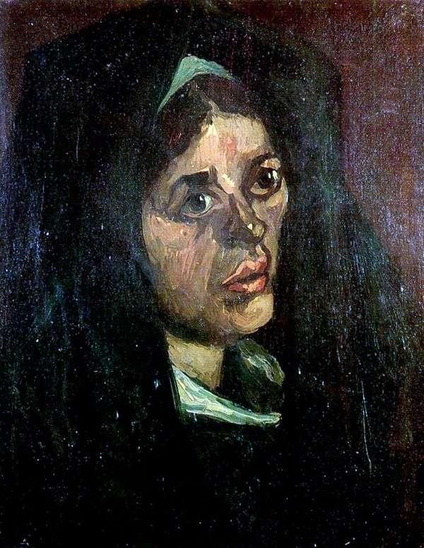 グリーンショール   ヴィンセントヴァンゴッホの農民の女性の肖像画