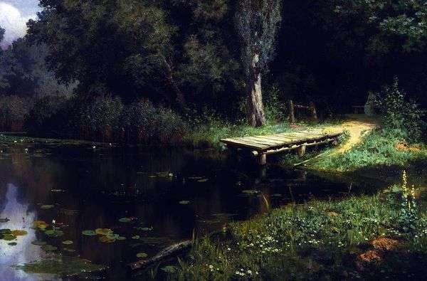 生い茂った池   ヴァシリー・ポレノフ