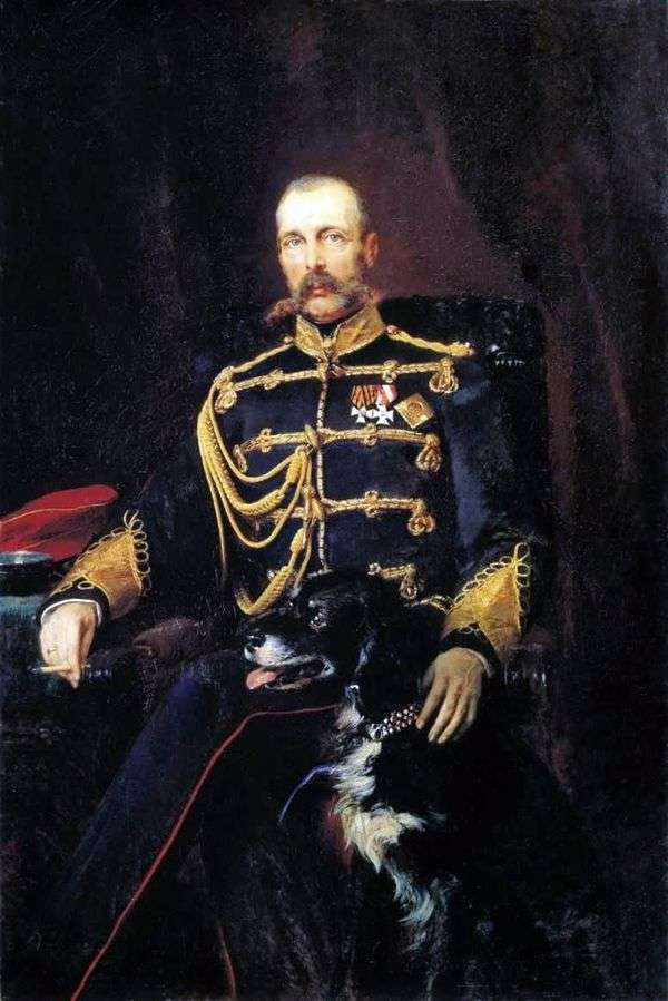 アレクサンドル2世の肖像   コンスタンティン・マコフスキー