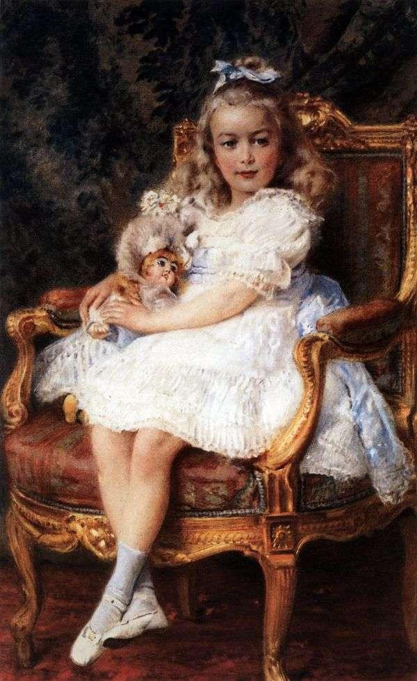 大公妃マリア・ニコラエヴナ   コンスタンティン・マコフスキーの肖像画