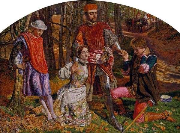 プロテウスからバレンタインセービングシルビア   William Holman Hunt