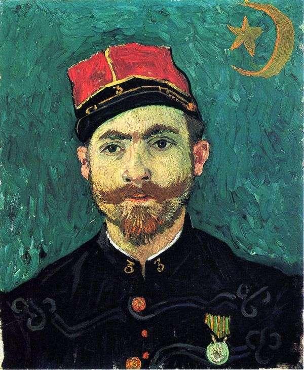 Zouava連隊の第2中尉   Vincent Van Gogh、ミレーの肖像