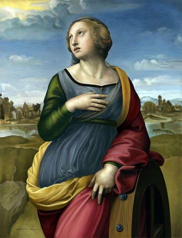 アレクサンドリアの聖カタリナ   ラファエルサンティ