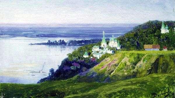 川沿いの修道院   ヴァシリー・ポレノフ