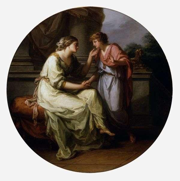 パピリウス、母親に秘密を明らかにするよう懇願する   Angelika Kaufman