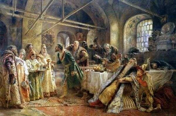 キスの儀式(噂のモロゾフのごちそう)   コンスタンティン・マコフスキー