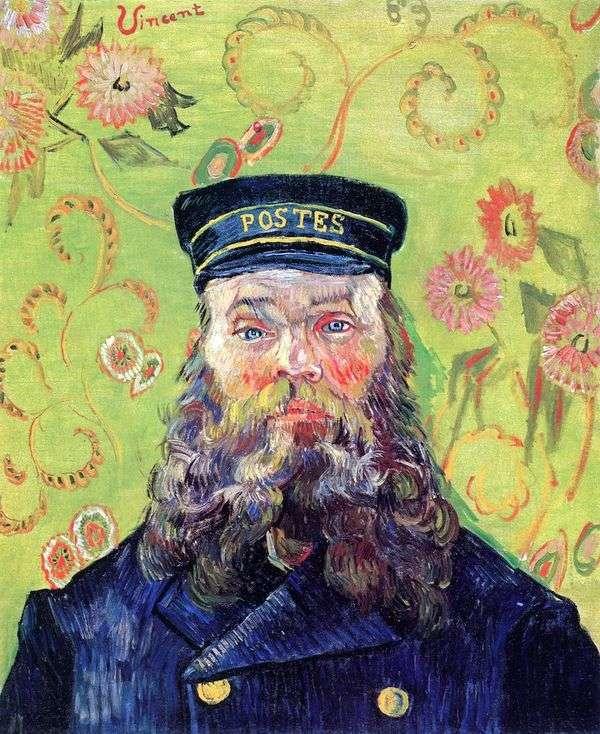 郵便配達人ジョセフ・ルーラン3世の肖像   ヴィンセント・ヴァン・ゴッホ